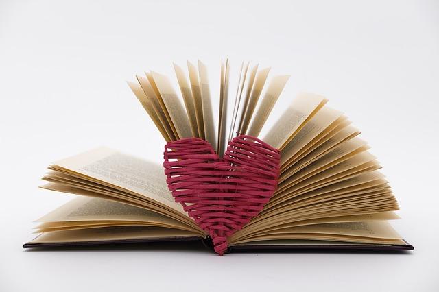 srdce u knihy